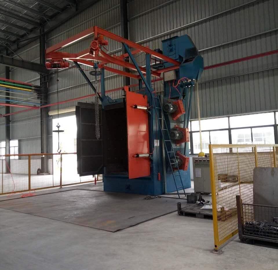 固德抛丸机帮我们节省了人工与电费—上海床架厂钱总