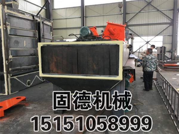 Q6915辊道通过式抛丸清理机车间制作及预安装完毕,准备喷漆发货安装
