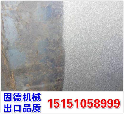 钢板抛丸机除锈除氧化皮效果怎么样?铁板双面同时除锈去氧化层增加油漆附着力