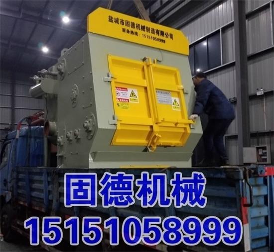 Q3210履带式抛丸清理机装车.jpg