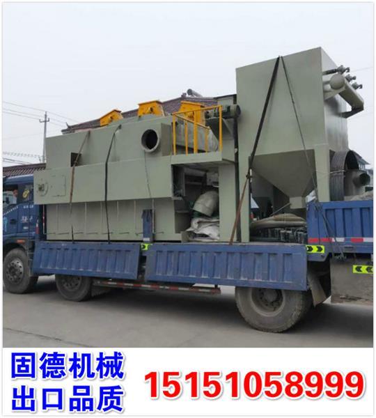 江西吉安吊钩式抛丸机Q3730型号,全自动气动大门,PLC自动控制,装车实拍