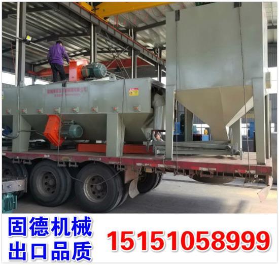 阴极钢棒喷砂机辊道通过式发货新疆昌吉,外加4吨钢丸,自带环保除尘设备