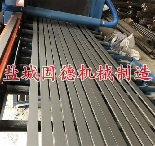 全自动抛丸机之辊道通过式用于型材除锈去氧化皮,安装调试现场实拍