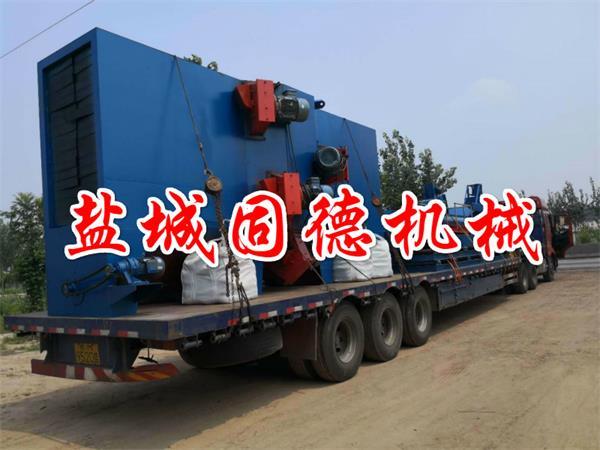 Q1018-8通过式抛丸机用于钢结构型钢抛丸打砂除锈去氧化皮发往江苏南京