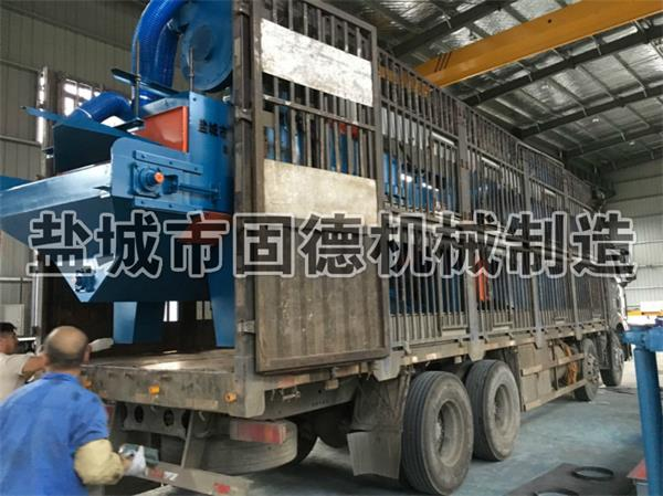 水泥地砖抛丸机发往湖北武汉